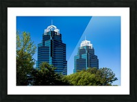 King and Queen Buildings   Atlanta GA 6686 Picture Frame print