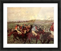 Men s riders before the start by Degas Picture Frame print