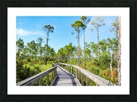 Bridge Walk Picture Frame print
