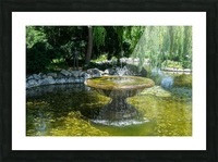 Refreshing Summer - the Little Fisherman Fountain Cheerfully Splashing in the Sunshine Picture Frame print