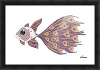 heart fish Picture Frame print