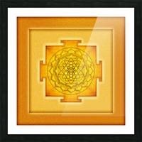 Golden Sri Yantra III Picture Frame print