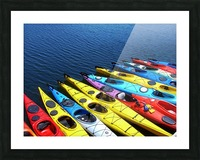 Colorful Kayaks Picture Frame print
