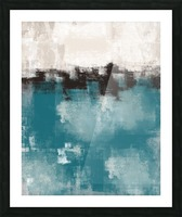 Blue Gray Black Abstract DAP 20013 Picture Frame print