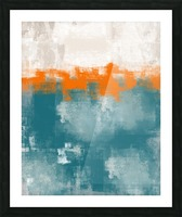 Blue Gray Orange Abstract DAP 20014 Picture Frame print