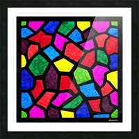 Stained Glass I Picture Frame print
