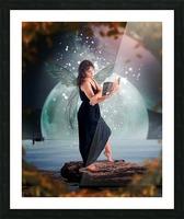 Fairy portrait Picture Frame print