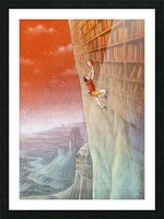 climbing Picture Frame print