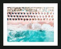 Aerial Ocean Print Beach Print Aerial Beach Print Round Umbrellas Beach Photography Sea Art Print Picture Frame print