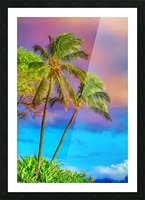 Palms Against The Sky Picture Frame print