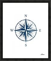 COMPASS ROSE Picture Frame print