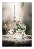 Legend of Zelda - Link in Splash Picture Frame print