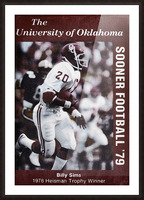 1979 billy sims oklahoma sooners football poster Picture Frame print