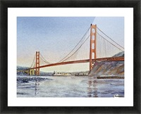 San Francisco California Golden Gate Bridge Picture Frame print
