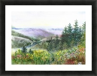 Landscape With Redwood Creek  Picture Frame print