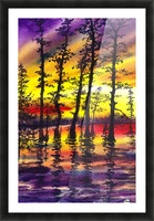 Bright Sunset Through The Trees Picture Frame print