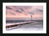Lighthouse Oakville Pier IMG_3643_4_5 copy Picture Frame print