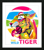 The Wild Tiger Picture Frame print