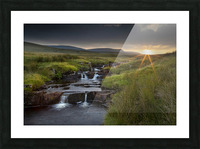 River Tawe sunset Picture Frame print