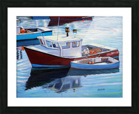 Tying Up Dinghy in Rockport MS Picture Frame print