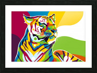 The King Tiger  Picture Frame print