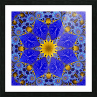 Golden Compass Mandala Picture Frame print