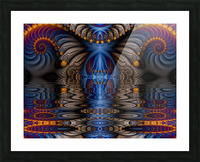 Blue Flame Picture Frame print
