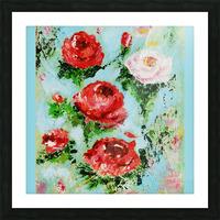 Roses on Aqua Picture Frame print