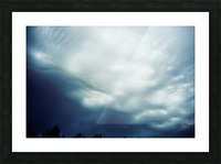 Psychedelic sky Picture Frame print