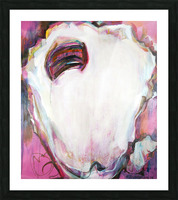Large Louisiana Oyster with Hot Pink Picture Frame print