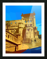 Dreams of Cannes France in Retro Behemian Style Picture Frame print