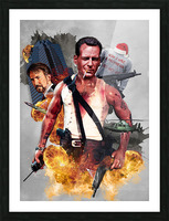 John McClane  Picture Frame print