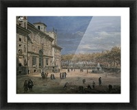 Villa Medici and garden in Rome Picture Frame print