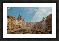 The Piazza Navona Picture Frame print