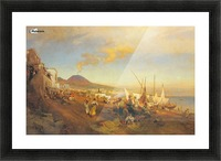 View of Naples Picture Frame print