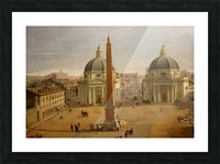 Veduta di Piazza del Popolo a Roma Picture Frame print