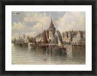 Blick auf eine Hafenstadt Picture Frame print