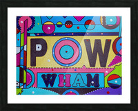 POW FOUR IN PLASTIC Picture Frame print