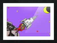 HAVE SPACE SHIP WILL TRAVEL Picture Frame print