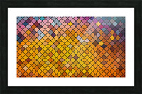 Mosaic Pattern Picture Frame print