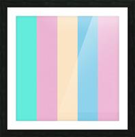 Pastel Palette Picture Frame print
