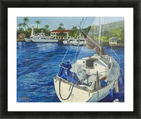 Lahaina Yacht Picture Frame print