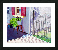 Red Shutters Picture Frame print