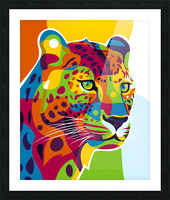 The Colorful Leopard Picture Frame print