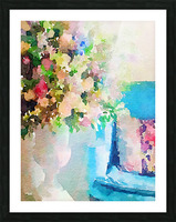 Blue chair Picture Frame print