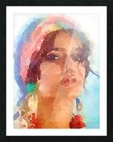 Esmeralda Picture Frame print