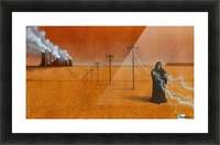 dark industry Picture Frame print
