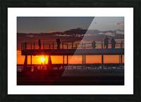 Coucher de  soleil sur Rimouski Impression et Cadre photo