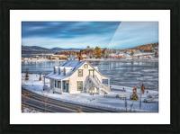 Premiere neige sur Gaspe Picture Frame print