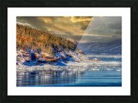 Pointe St-Pierre sous la glace Impression et Cadre photo